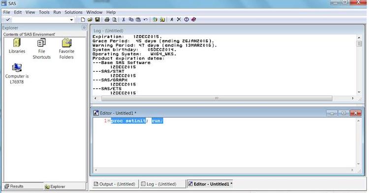 SAS Expiration Screenshot